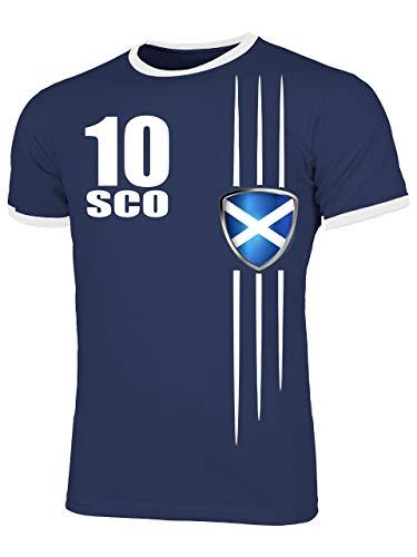 Schottland Scotland Fanshirt Fussball Fußball Trikot Look Jersey Herren Männer Ringer Tee t Shirt Tshirt t-Shirt Fan Fanartikel Outfit Bekleidung Oberteil Hemd Artikel