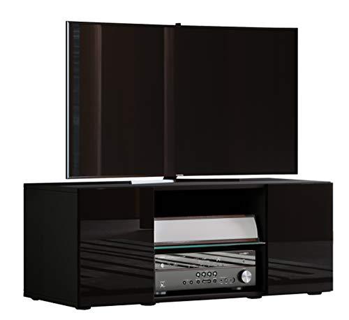 VCM TV Lowboard Fernseh Schrank Möbel Tisch Holz Sideboard Medien Rack Bank Schwarz 40 x 95 x 36 cm