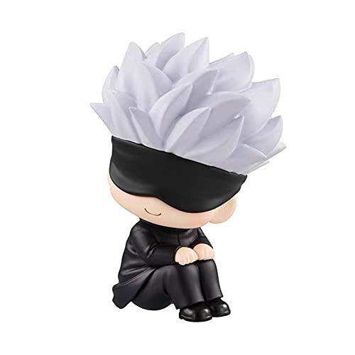 Anime Figur Jujutsu Kaisen Figur, niedliche Gojo Satoru itadori Yuji Puppen, schauen Sie nach oben PVC Anime Action Figure-Sammlung Modell Spielzeug für Halloween-Weihnachtskind-Geburtstagsgeschenke