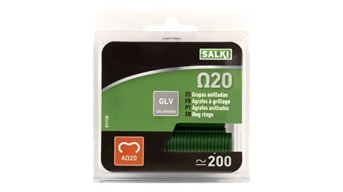 Salki 0111420 Caja de Grapas, Verde, L, Set de 200 Piezas