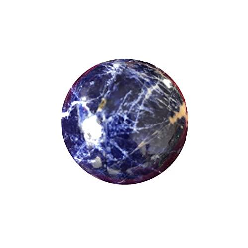 W.Z.H.H.H Crystal Rau Natürliche Sodalit-Kugel Quarzkristall Edelstein Power Ball Orb Natursteine Mineralien Reiki Heilungskristall Heilende Kristalle