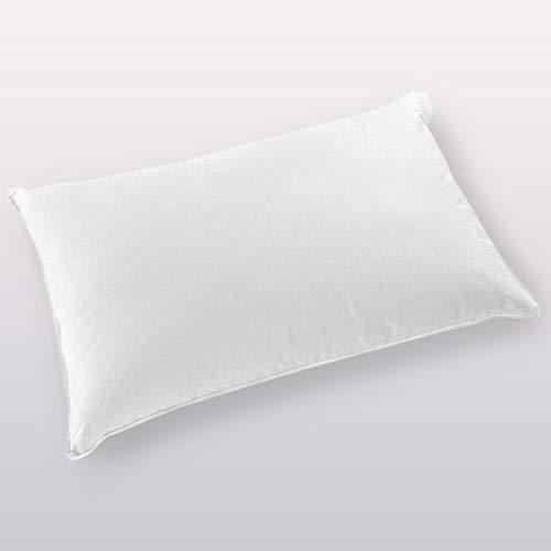 Gabel Nottetempo Guanciale Super Comfort, cuscino per letto, Cotone-Piuma D'Oca, Bianco, 80 x 50 x 14 cm