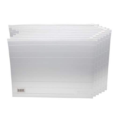 Zoohot A4 Größe Wasserdichte Reißverschluss-Akten-Beutel Office-Dokument-Cache Münzen-Briefpapier-Speicher-Reißverschluss-Beutel-Organisator,Satz von 10
