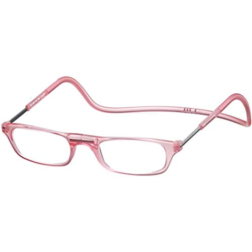 Clic Readers (クリックリーダー) リーディンググラス 老眼鏡 + 東レ トレシー クリーニングクロス セット (マットピンク,+3.00)
