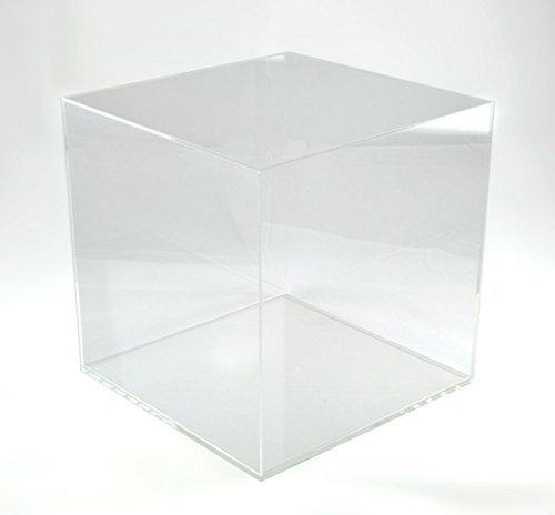 Hansen Vitrine Acryl/Schaukasten/Objektvitrine/Showcase quadratisch, 300x300x300 mm, mit transparentem Boden