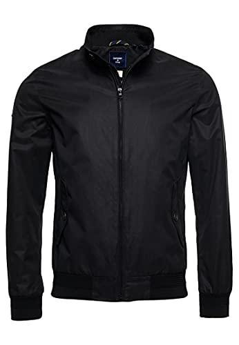 Superdry Mens Iconic Harrington Jacket, Black, M