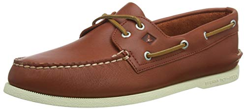 Sperry Top-Sider Men's a/O 2-Eye Boat Shoe, Red, 9.5 M US