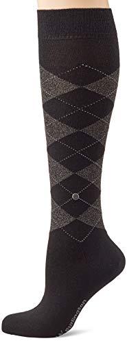 Burlington Damen Lurex Marylebone Socken, schwarz (black 3003), 36-41