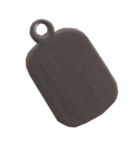 Plaque de gravure Brubaker pour chaîne ou clé en acier inoxydable mat, surface de gravure 18 x 20 mm