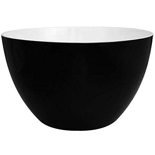 Zak Designs Duo Ensaladera, 28 cm, negro y blanco