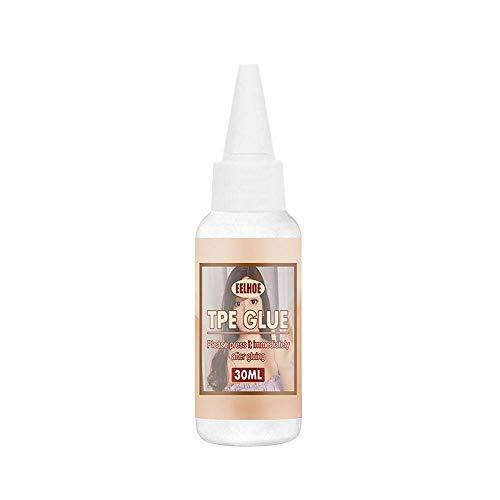 Pegamento solvente TPE para reparación de muñecas de silicona Pegamento dividido de lágrimas sólidas TPE 30 ml/botella, para muñecas TPE/muñecas de silicona