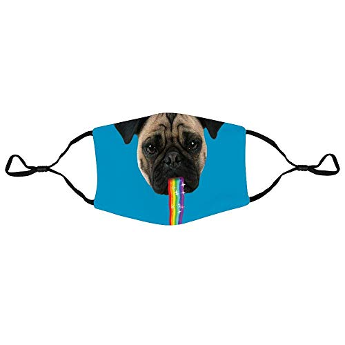 Mundschutz Pug Puking Rainbow Snapchat Filter Personalized Anti-Dust Face Scarf Mouth Cover Face Cover