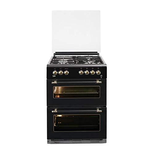 BEKO FDF63110DBR - Cuisiniere table mixte gaz/électrique - 4 zones - Double four électrique - 49 L - 38 L - A - L60 x H 85 cm