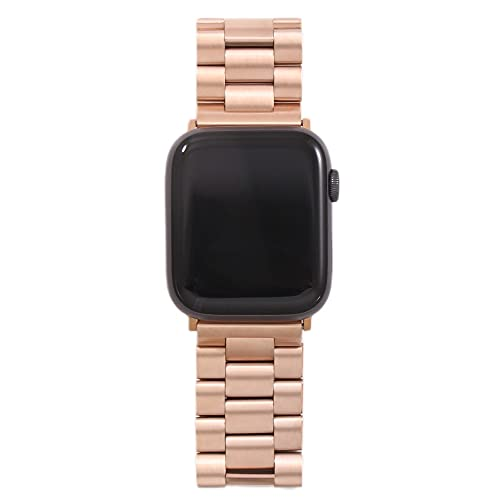 Hspcam Correa para Apple Watch6 5, 4, 3, 2, 1, 42 mm, 38 mm, 40 mm, 44 mm, acero inoxidable, correa de reloj para iWatch Series Accesorios (42 mm, 44 mm, 10 MJ)