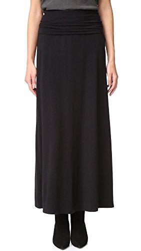 Big Sale Splendid Women's Modal Lycra Long Maxi Skirt, Black, Large