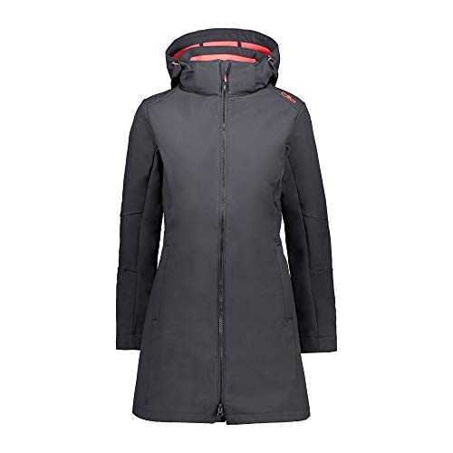 CMP – F.LLI Campagnolo Damen Softshellmantel mit ClimaProtect-Technologie 7.000mm, Antracite-Red Fluo, D38