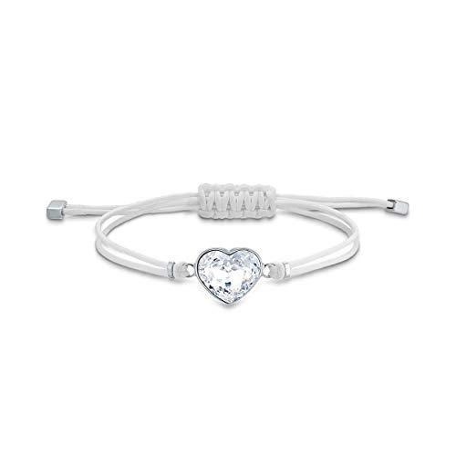 Swarovski Braccialetto Power Collection Heart, Bianco, Acciaio Inossidabile