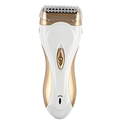 Women Electric Shaver Ladies Cordless Electric Razor For Body Hair Removal Waterproof Bikini Trimmer Wet Or Dry Shaver Operation Ladies Shaving Machine (Color : Champagne Gold)