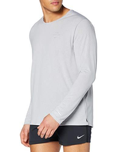 NIKE Run DVN Miler GX Flash Longsleeve Camiseta de Manga Larga para Hombre, Lt Smoke Grey/Reflective Silv, XX-Large