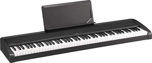 KORG B2N Digitalpiano, Keyboard, E-Piano, (mit leichtgängiger Tastatur, Notenpult, Dämpferpedal und Lernsoftware), USB Midi/Audio-Anschlüsse, schwarz