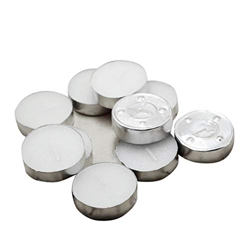 iFCOW Long Lasting Tea Lights, 20pcs Tealight Candles Smokeless Unscented Long Lasting Tea Lights
