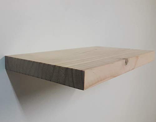 Estante Pared, Balda Pared Madera 100 x 20 x 3 Cm. hasta 25Kg Pino Natural