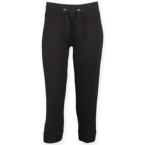 Skinni Fit Pantaloni Stretti a Tre Quarti - Donna (XS) (Nero)