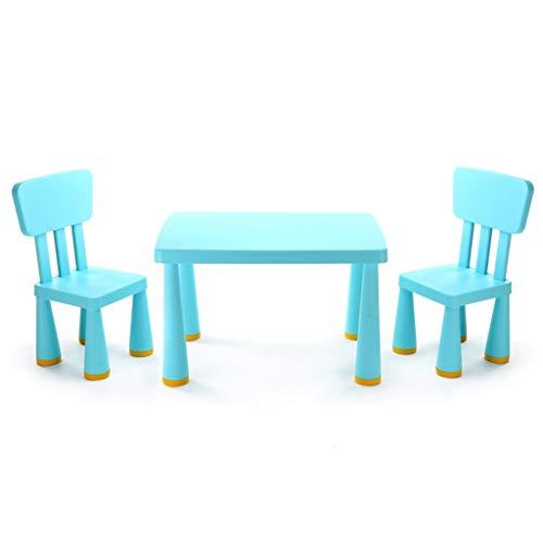 Ensemble Table et chaises pour Enfants Chambre d'enfant Table de Jeu Chaise 200KG (Color : Blue)