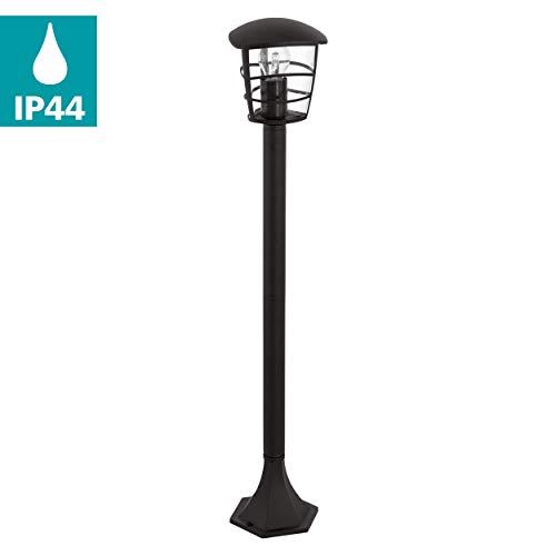 Eglo 93408 Socket lampe, E27 Noir Aluminium
