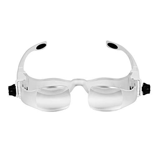 Einstellbare Vergrößerungslupe Für Headset 1.5X-3.8X Alte Lesebrille Lupe Einstellbare Weiße Optische Lupe Für Kopfhörer 3D-Cinema-Effekt