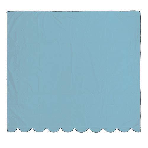 ACAMPTAR 5 X 10 Pies Sombra Velas RectáNgulo Sombra Vela Bloque UV para Patio JardíN Exterior Azul