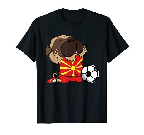 Pug Macedonia Ftbol Fans Jersey Macedonia Amantes del Ftbol Camiseta
