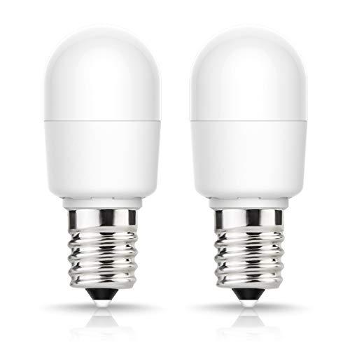 Bombillas LED E14 (2W equivalentes a 25W, 6000K, luz blanca fría, 200lm, 240 ángulo de dispersión de luz, ahorro de energía para gabinete, nevera, lámpara de araña y lámpara de pared, 2 unidades)