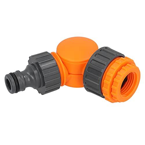 Conector de manguera, plástico Buen rendimiento de sellado Adaptador de grifo de rotación de 180 grados para limpieza y saneamiento para riego de jardines