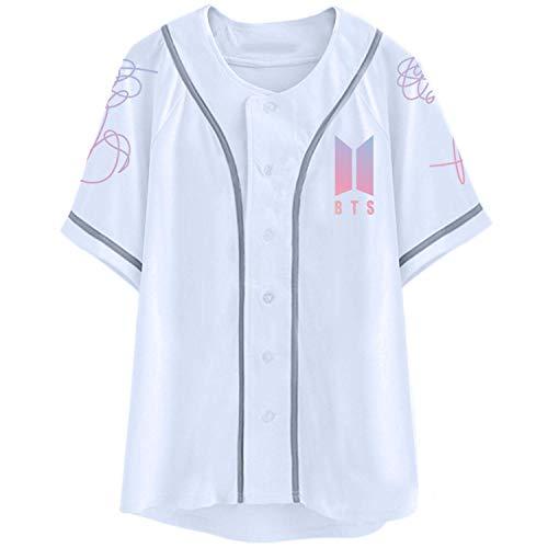 Findom Kpop BTS Shirt Love Yourself Baseball Jersey Jimin Suga V Jung Kook T-Shirt White