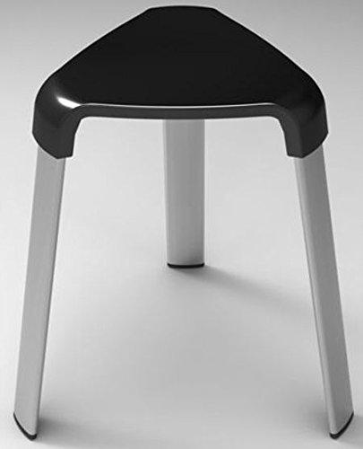 B&B Badhocker Duschhocker Duschstuhl Sitzhocker Duschsitz Hocker Badezimmerhocker (schwarz)