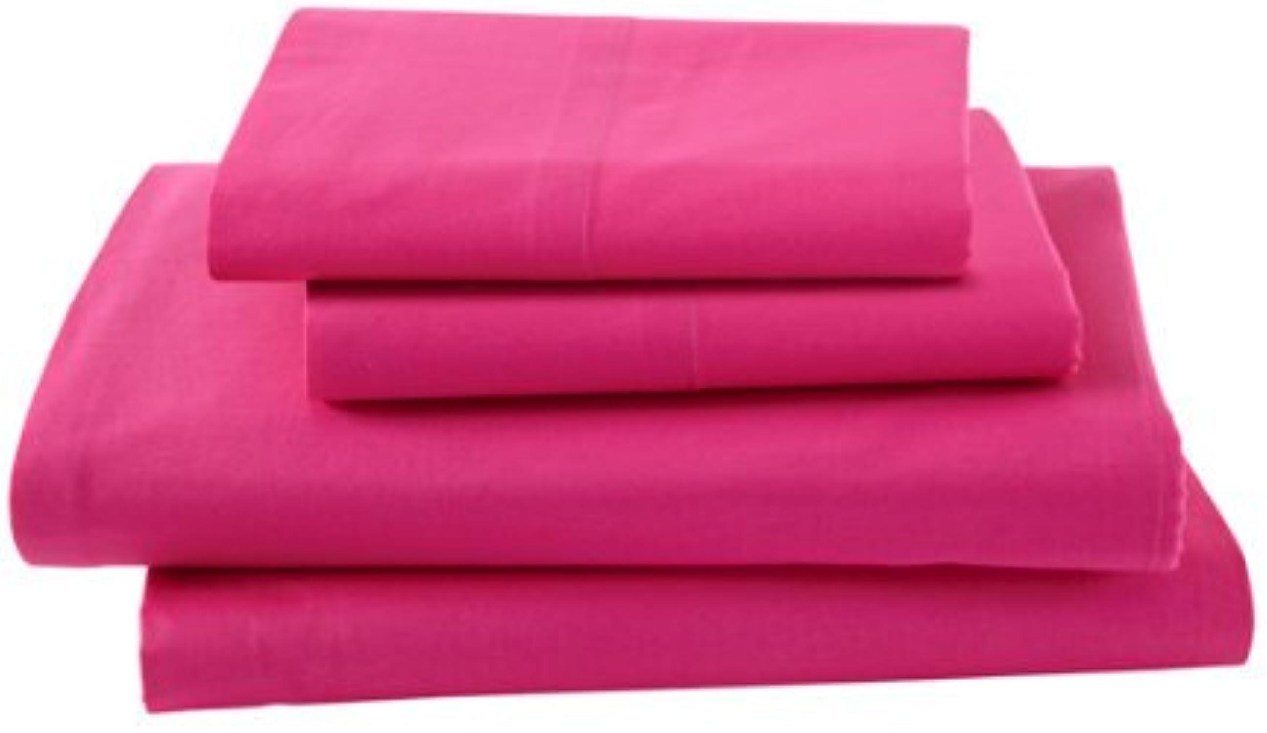 Laxlinens 350fils en coton égypcravaten 4pièces pour lit (+ 38,1cm) très profond Euro grand Poche Simple, massif rose vif