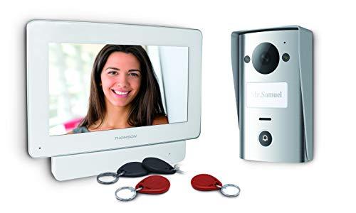 Thomson - Videoportero a Color (2 Cables, Pantalla de 18 cm, Memoria de visitantes, RFID)