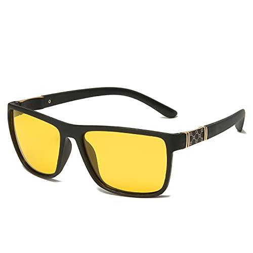 ShZyywrl Gafas De Sol De Moda Unisex Gafas De Sol Polarizadas Clásicas para Hombre, Gafas De Sol Cuadradas para Conducir, Gafas De Sol con Revestimiento Vintag