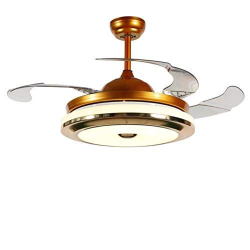 ASPZQ Invisible Ventilador de Techo Luz, Lámpara Techo con Control Remoto 110-240v para Pasillo, Pasillo, Dormitorio, Hotel, Cocina, Lámpara de Escalera En El Techo