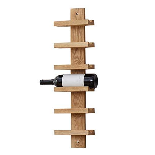 IREANJ Estante de vino montado en la pared del soporte de la flor, almacenamiento del estante del vino, estante de madera maciza 18.2x10x70cm estante estante estante del vino