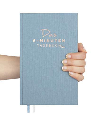 Das 6-Minuten-Tagebuch PUR (die Nachfolgeversion) | Erfolgsjournal, Dankbarkeitsjournal | Mix aus Notizbuch & Tagebuch | Täglich 6 Minuten für mehr Erfolg, Gelassenheit & Achtsamkeit (aquarellblau)