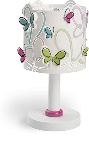 Dalber lampe de table enfant Butterfly Papillons multicolores