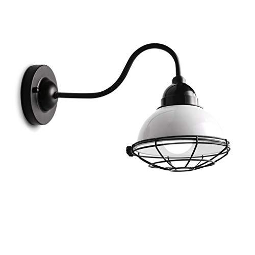 Lampe de lecture Cage de fer simple Industriel Rétro escalier Escalier Chambre Applique murale 39 * 24 Cm Blanc LED Source de lumière