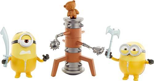 DESPICABLE ME Me-Minions Figuras traviesas y revoltosas, Bob/Wooden Dummy, 10 cm (Mattel GMF17)