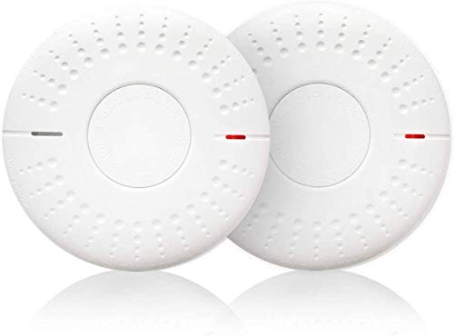 2 Pack 10Year Battery Not Hardwired Combination Smoke amp Carbon Monoxide Alarm Detector