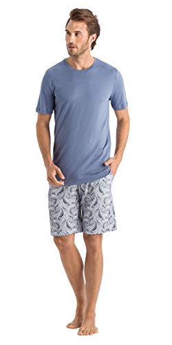 Hanro Herren Pyjama Aqua (53) M
