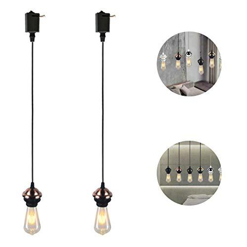 Phoeni Lámpara Colgante Vintage con Lámpara Colgante de Estilo Industrial, Lámpara del Techo Vintage, Colgante de luz Techo de Jaula de Industrial Lámpara Colgante para Restaurante