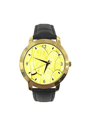 Lemon Slice - Reloj de pulsera analógico de cuarzo para hombre y mujer
