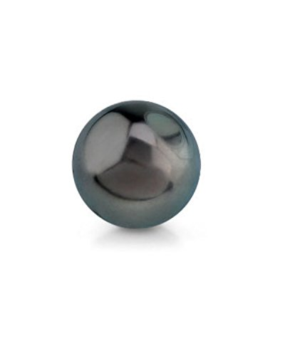 Genuine Single Black Tahitian South Sea Undrilled Round Loose Cultured Pearl - AAA Quality